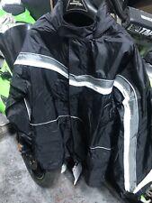 TourMaster Mens Elite II Rain Motorcycle Jacket Black Coat Size L