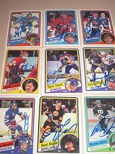 LOT OF 22 DIFFERENT AUTOGRAPHED 1984 OPC O-PEE-CHEE HOCKEY CARDS-NO DOUBLES