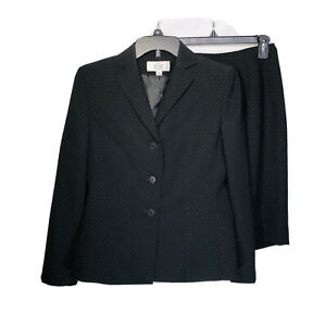 Le Suit Womens Skirt Suit 4P Small 2 Pc Blazer Lined Business Career