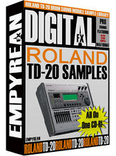 ROLAND TD-20 Drum Sound Module WAV Samples Library FREE FAST SHIPPING
