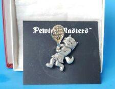 cat pin Pewter masters tennis