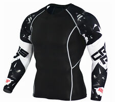 Men's Workout Compression Tops Sports Base Layer Long Sleeve T shirts Quick-dry