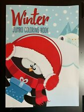 WINTER JUMBO COLORING & ACTIVITY BOOK,  FUN FOR KIDS!