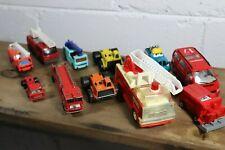 Vintage Diecast Lot of 11 Vehicles | Emergency, Fire, Construction Trucks D5