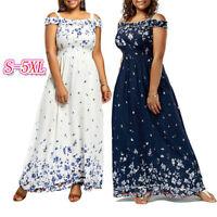 Summer Women Bohemian Boho Plus Size Dress Long Party Maxi Floral Casual Dresses