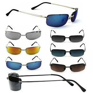 Schmale Herren Sonnenbrille Rechteckig Verspiegelt Agent Smith Neo Rennec M5&s
