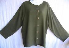 TIENDA HO~Cactus Green~WOVEN SUSTI~Mali Top~TEXTURAL~Double Layered~OS M-XL?