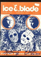 1973 Ice Blades Magazine Autographed Gerry Cheevers Ed Johnston Hologram