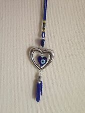 Evil(Turkish) Eye Protection Good Luck Heart Charm for Home Car Mirror Hanging