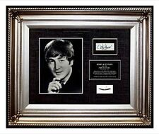 The Beatles JOHN LENNON Hair lock w PHOTO Signed band letter relic memorabilia