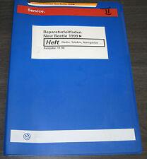 Werkstatthandbuch VW New Beetle Radio Telefon Navigation Stand November 1998
