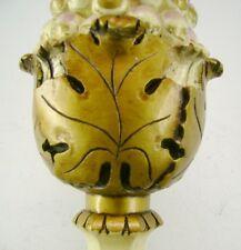 GOLD GILT ANTIQUE 1959 PLASTER CHALKWARE END TABLE LAMP LIGHT HOLLYWOOD REGENCY