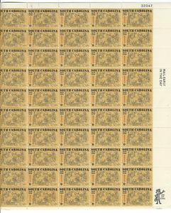 Scott #1407...6 Cent...South Carolina...Sheet of 50 Stamps