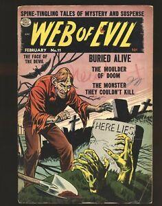 Web Of Evil # 11 - Jack Cole art G/VG Cond.