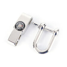 Stainless Steel U Shaped Shackle Buckle For Paracord Bracelets with compass ZJZY
