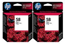 GENUINE NEW HP 58 (C6658AN) Ink Cartridge 2-Pack
