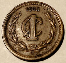 MEXICO 1903-C 1 CENTAVO Cu Coin in EF+ from Culiacan 396,000 mtg KM394 $3s&hUSA