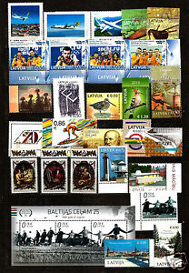 Latvia  2014 full year set Flower , airplane, bird,sea lighthouse ,Olympic  MNH