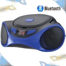 NEW Sylvania Blue Portable CD Player AM/FM Radio Boombox Stereo w/Bluetooth/Aux