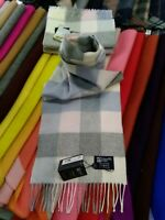 100% Cashmere Scarf | Johnstons of Elgin | Pink Block Check | Made in Scotland