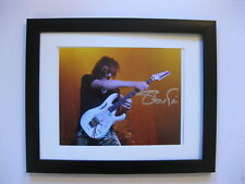 Steve Vai Signed 8 x 10 Photo Fine Art with Ibanez Jem Guitar