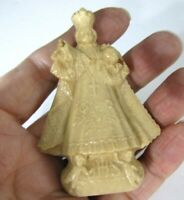 Vintage Infant Of Prague Jesus Statue Religious Icon Catholic Molded Plastic 3""