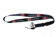 CANADA BLUE COUNTRY FLAG LANYARD KEYCHAIN PASSHOLDER .. NEW
