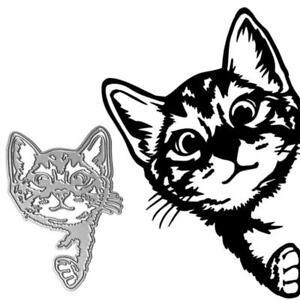 Cat Metal Cutting Dies Stencil Scrapbooking DIY Album Stamp Paper Card Mold