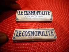 2 Pochette s de Papier à Cigarette LE COSMOPOLITE C Cardon Paris depuis 1874