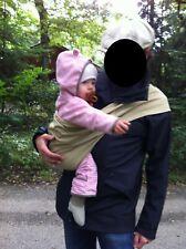 Nasenbär-Tuch Tragetuch Babytrage Hüftsitz beige Bio-Baumwolle