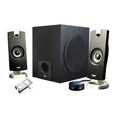 PC Laptop Computer Surround Sound Speakers w/Subwoofer great for video gaming
