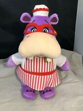 "Doc McStuffins HALLIE HIPPO Talking 14"" Purple Plush Just Play"