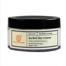Khadi Herbal Cream, Herbal Day Cream 50gm with Aloevera Extracts Free Shipping