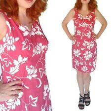 The Hawaiian Original Pink Floral Sundress Resort Dress Tropical Tiki Cotton 12
