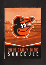 Baltimore Orioles--2019 Early Bird Pocket Schedule--Visit Sarasota