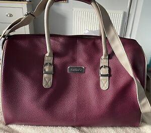 Antler Burgundy Weekend Bag