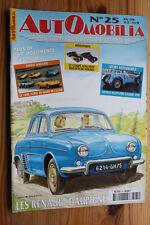 Revue AUTOMOBILIA N° 25 Mai 1998 Renault Dauphine miniatures Solido