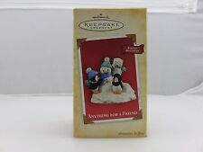 Hallmark Keepsake Christmas Ornament Penguins ANYTHING FOR A FRIEND NEW 2004