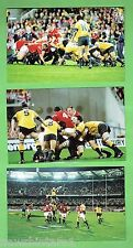 #D51. SET OF  SIX RUGBY UNION POSTCARDS, 2001 WALLABIES V LIONS, GABBA  BRISBANE