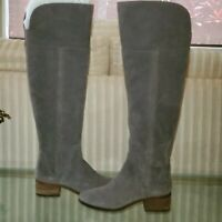 Vince Camuto Kochelda Charcoal Grey Tall/ Over The Knee Suede Boots