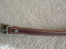 "Leather Cowhide Dog Collar 20"" Brown"
