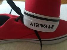 new red Air walk sneakers for men size 12