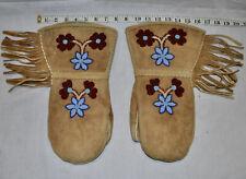 Native American Beaded Hide Mittens