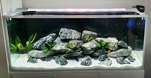 White Aquarium Sand Natural Dolomite Gravel Fish Tank Decoration For Malawi