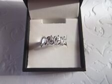 White Sapphire Ring Size 6.5