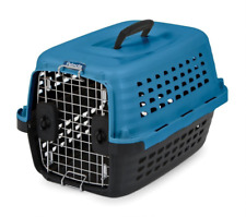 Dogs Cats Plastic Kennel Pet Carrier Crate For Small Animals Cat Dog Compass