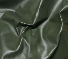 """ARMY GREEN Cow Hide Leather 8""""x8"""" Piece"""