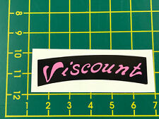 old school bmx decals stickers viscount dominator seat decal black and pink