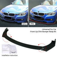 Front Bumper Lip Body Kit Spoiler Splitter Universal for BMW Audi VW BENZ Honda