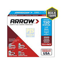 5000 x Arrow T50 6mm 1/4inch pro pack staples box of 5000 ARRT5014IP